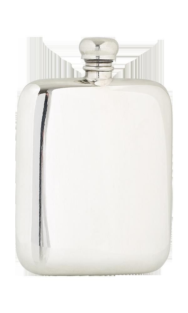 4oz Plain Pewter Flask