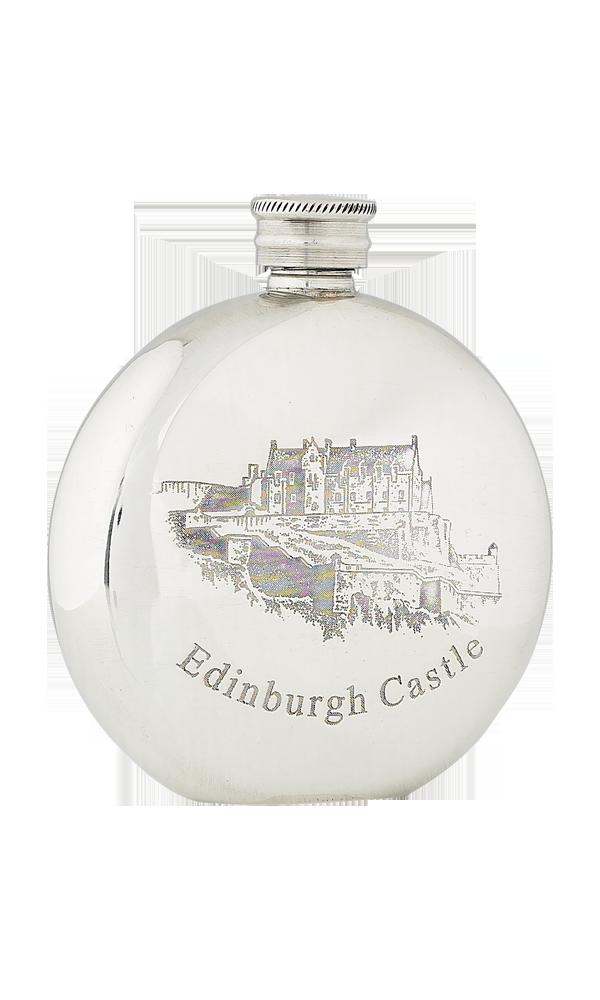 6oz Edinburgh Castle Pewter Flask