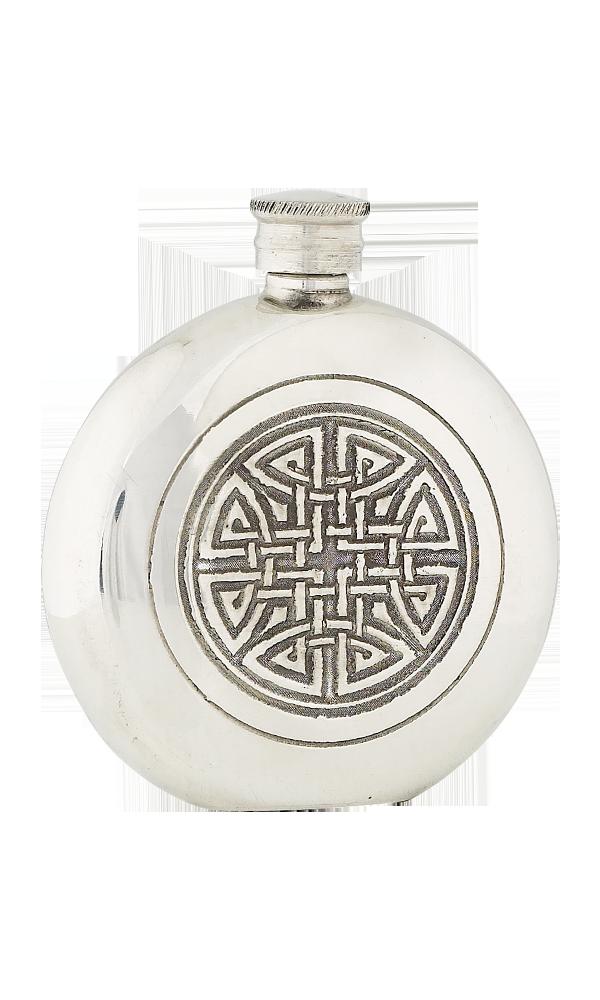 6oz Celtic Knot Pewter Flask