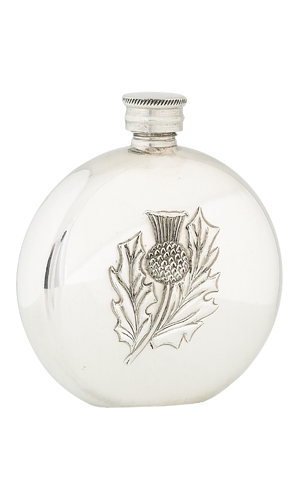 6oz Thistle Pewter Flask