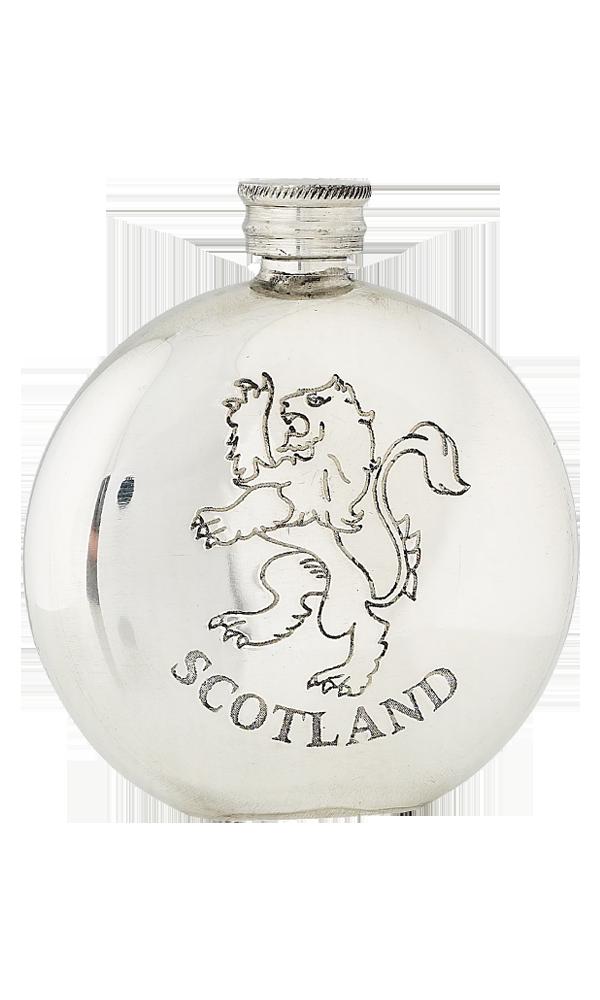 6oz Lion Rampant Scotland Pewter Flask