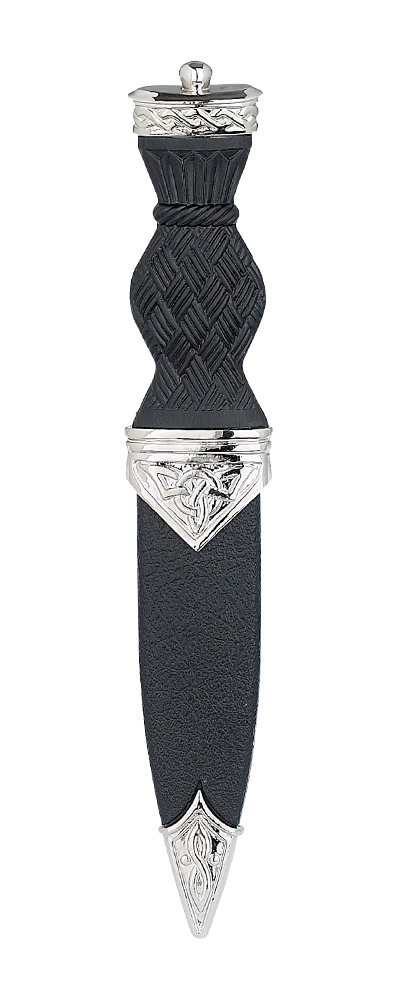 Celtic Plated Sgian Dubh With Plain Top