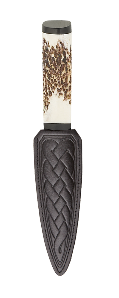 Scottish Staghorn Sgian Dubh With Blackwood