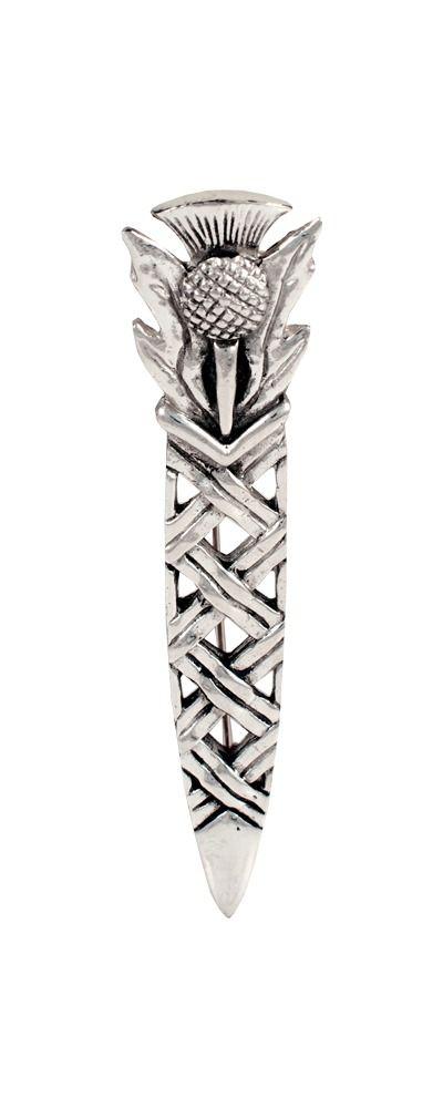 Thistle Weave Kilt Pin