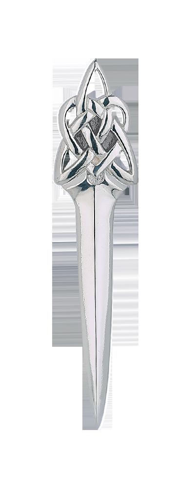 Celtic Dirk Silver Kilt Pin