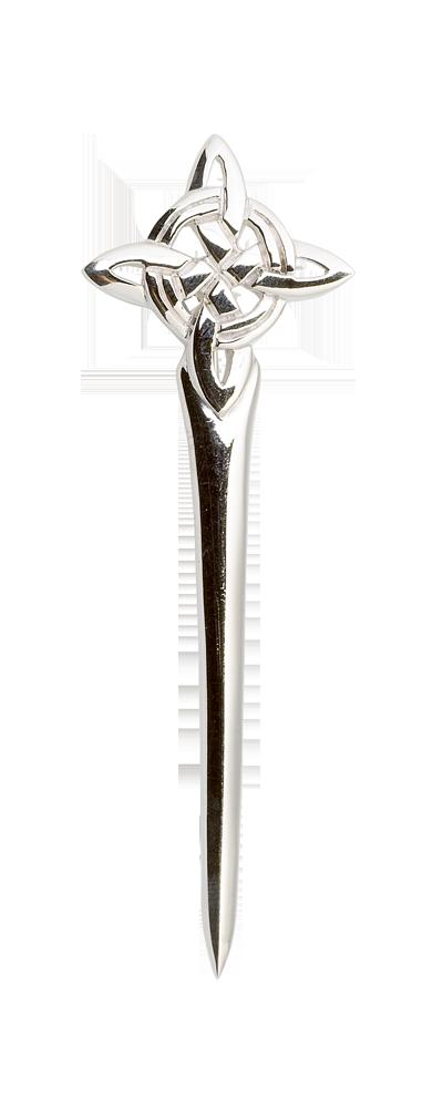 Celtic Knot Silver Kilt Pin