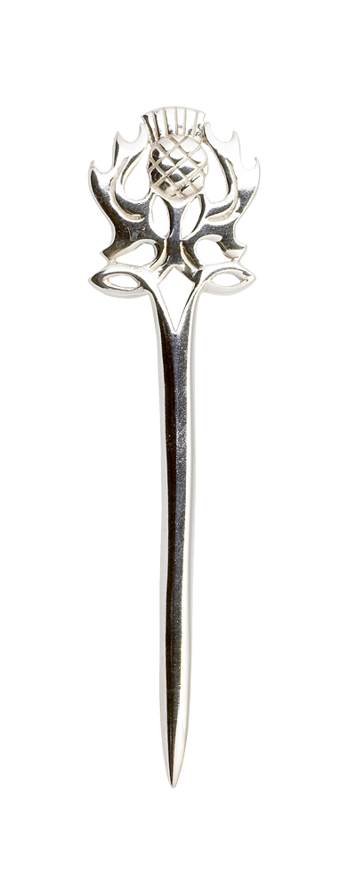 Scottish Thistle Silver Kilt Pin