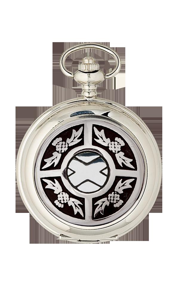 Thistle & Saltire Quartz Pocket Watch