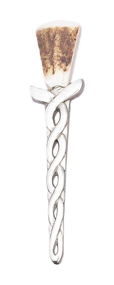 Stag horn Celtic Kilt Pin