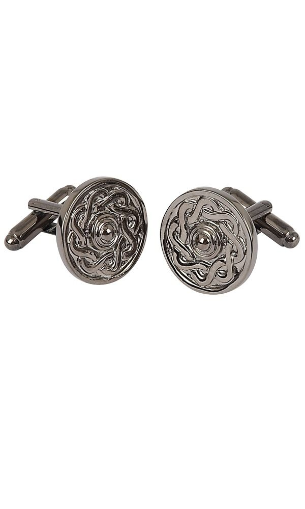 Black Chrome Celtic Cufflinks