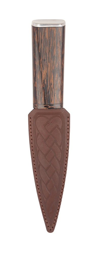Black Palm Arisaig Sgian Dubh With Pewter Cap