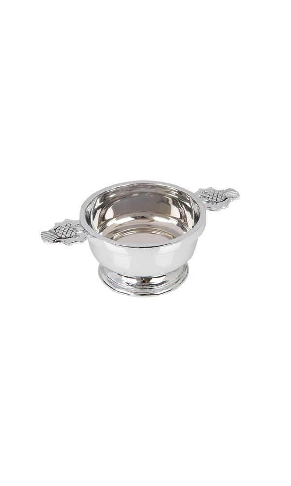 "2.5"" Thistle Chrome Plated Quaich"