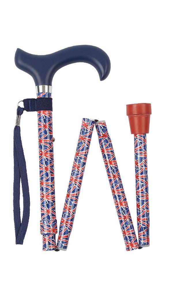 Union Jack Folding Stick