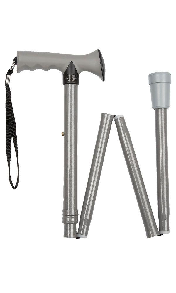 Gel Handle Folding Stick - Grey