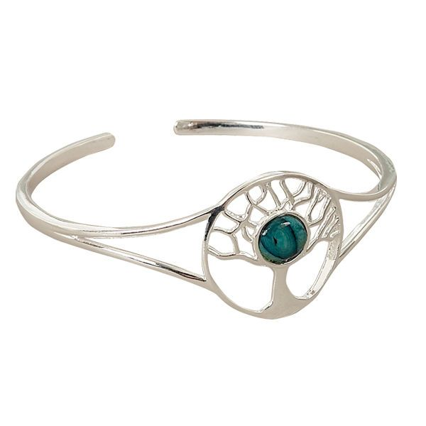 Tree Of Life Plated Bangle