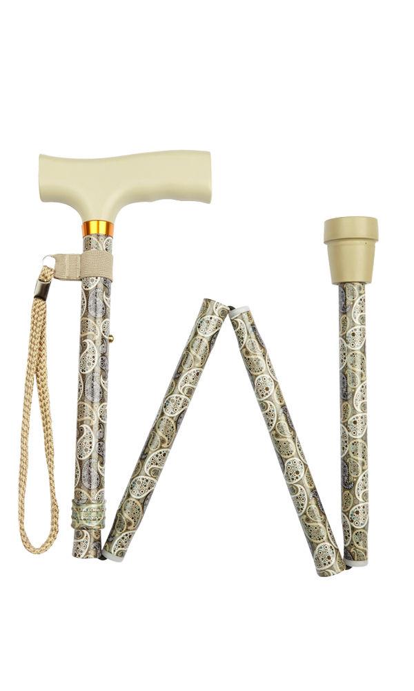 Sage Paisley Folding Stick