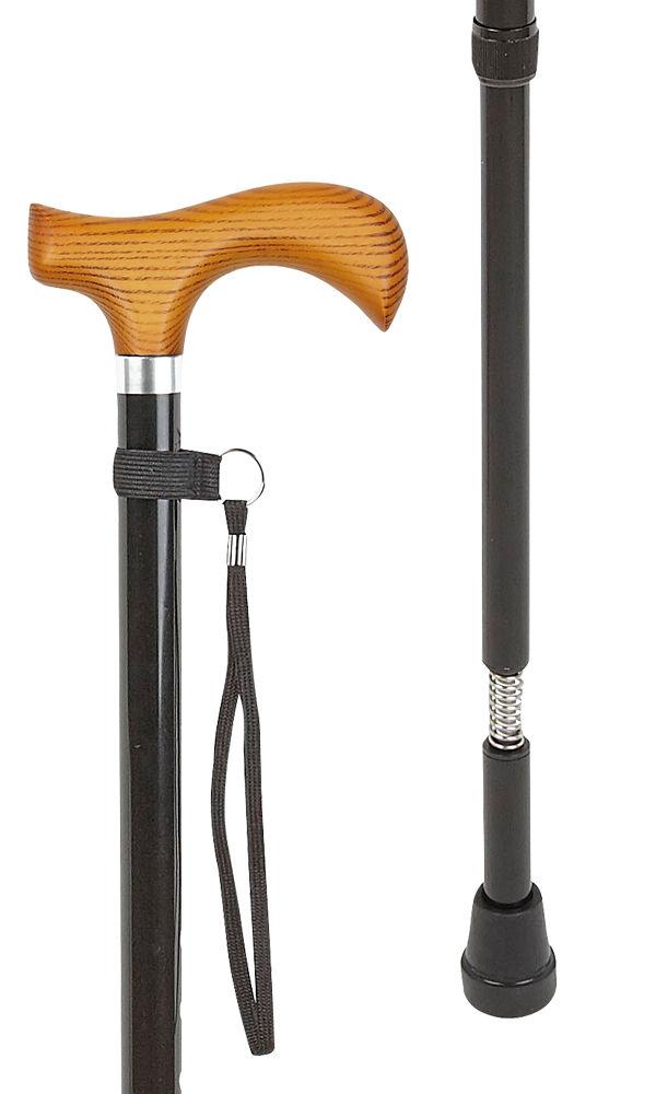 Natural Derby Adjustable Black Stick with Shock Absorber