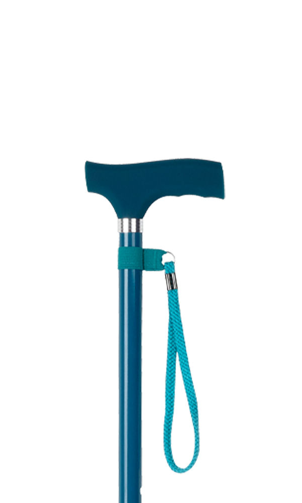 Teal Silicone Handle Adjustable Stick