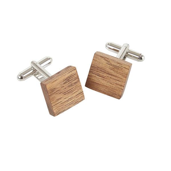 Square Cufflinks - Amazaque Wood