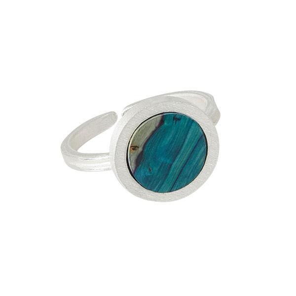 Circle Satin Silver Ring