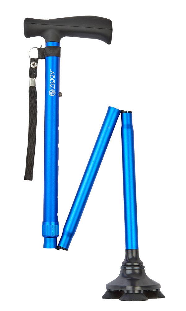 Ziggy Tribase Folding Stick - Blue