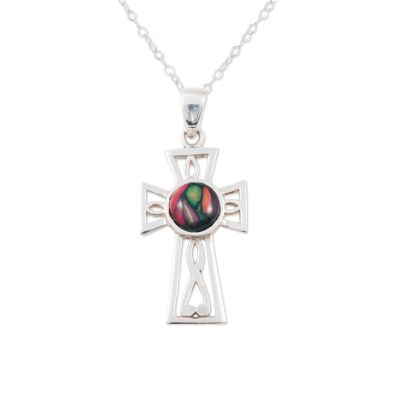 Gothic Celtic Cross Silver Pendant
