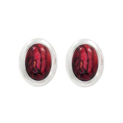 Oval Clip Earrings