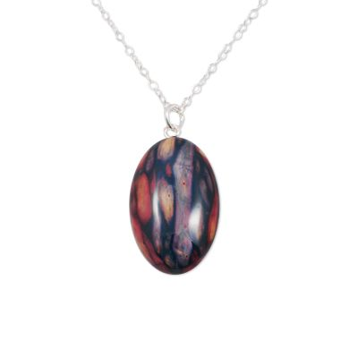 Oval Heather Pendant