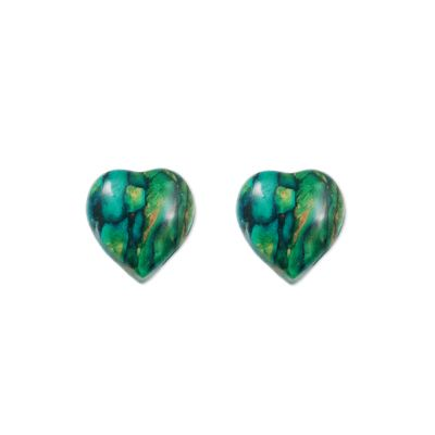 Heart Heather Stud Earrings