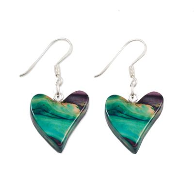 Quirky Heart Heather Earrings