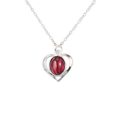 Open Heart Silver Pendant