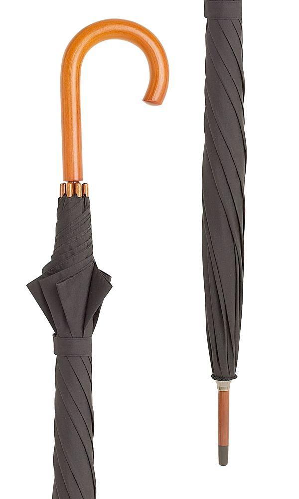 Hampton Black Crook Umbrella x 10