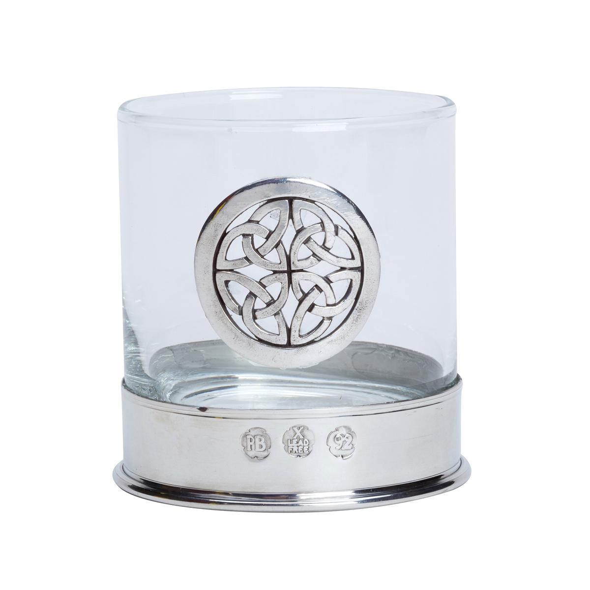 Celtic Knot Whisky Glasses - Pair