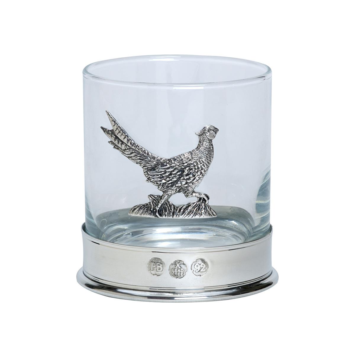 Pheasant Whisky Glasses - Pair