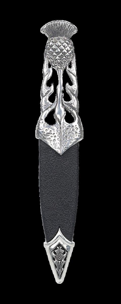 Ryan Thistle Polished Pewter Dress Sgian Dubh