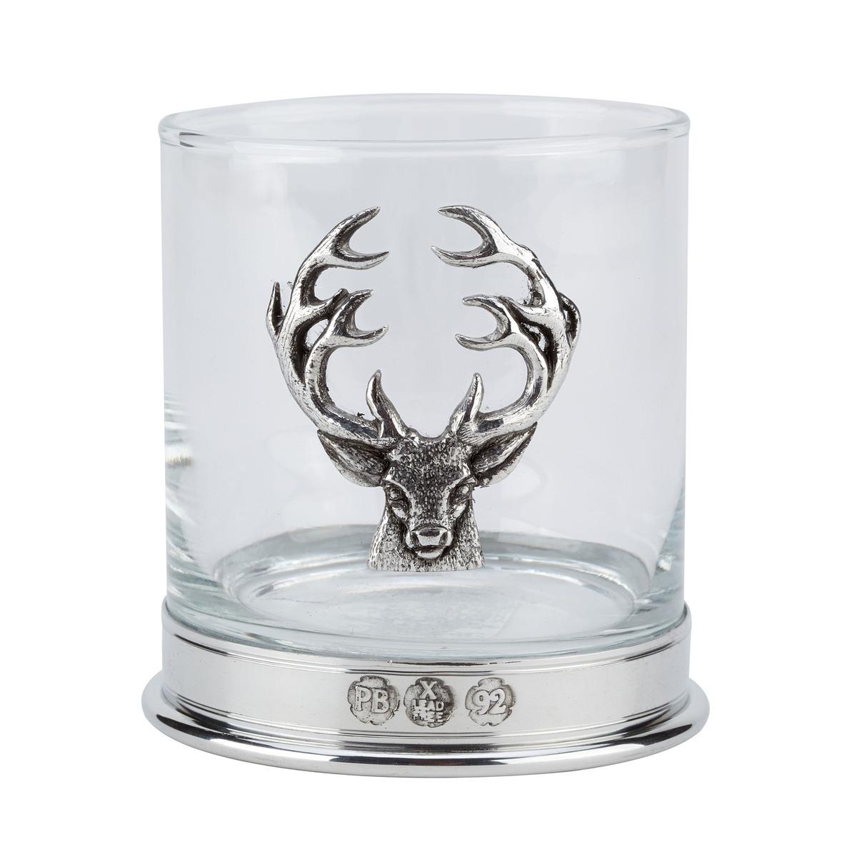 Stag Whisky Glasses - Pair