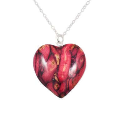 Medium Heart Heather Pendant