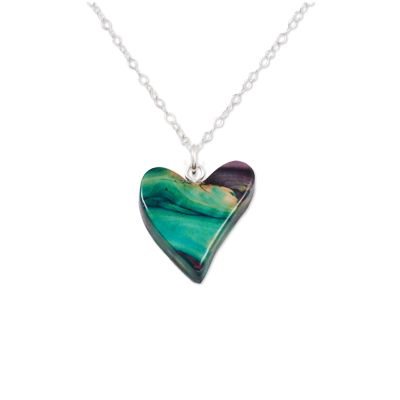 Quirky Heart Heather Pendant