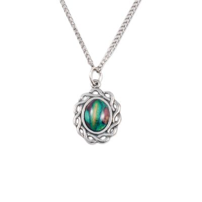Celtic Oval Pewter Pendant