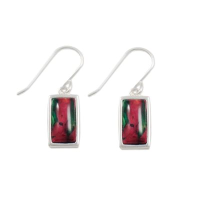 Rectangle Silver Earrings